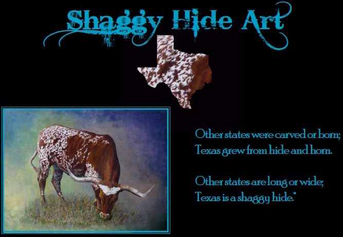 Shaggy Hide Art: Paintings of longhorn cows